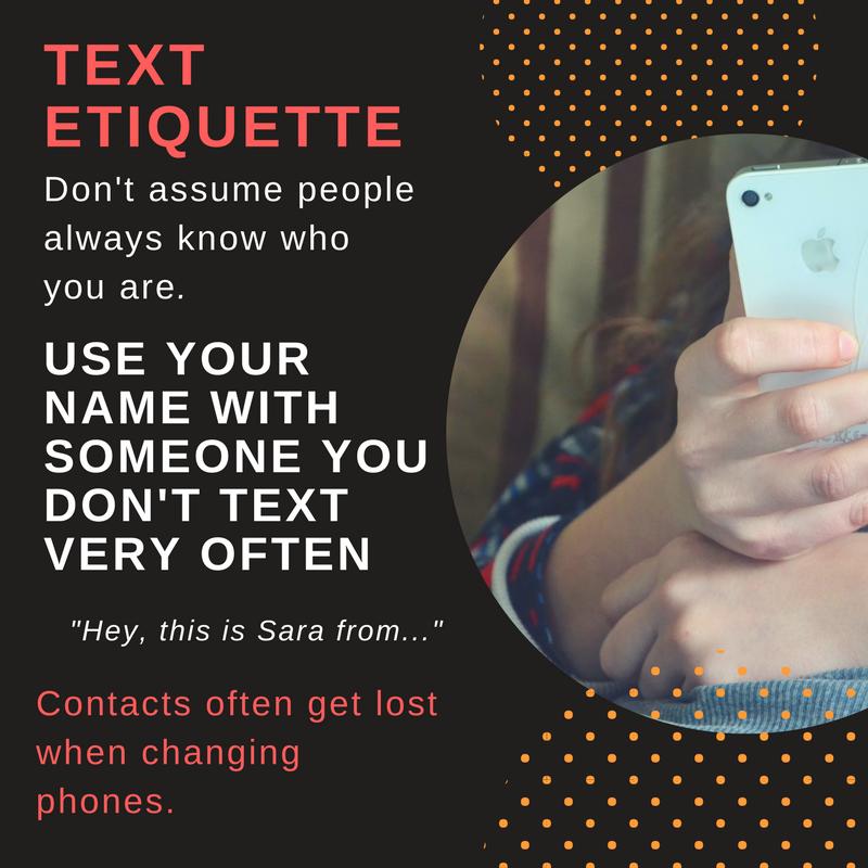 Text Etiquette
