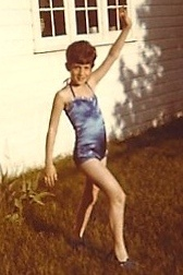 Carol in her 1st grade dancing outfit