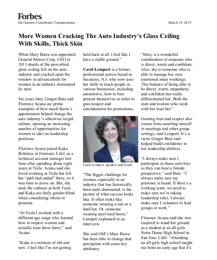 Forbes Women Crack the Glass Ceiling