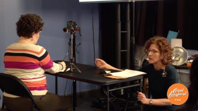 Carol Lempert coaching a client on her Facebook video
